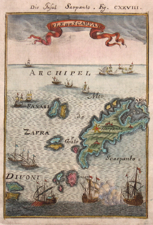 Mallet Alain Manesson Die Insul Sapanto/ Isle de Scarpanto