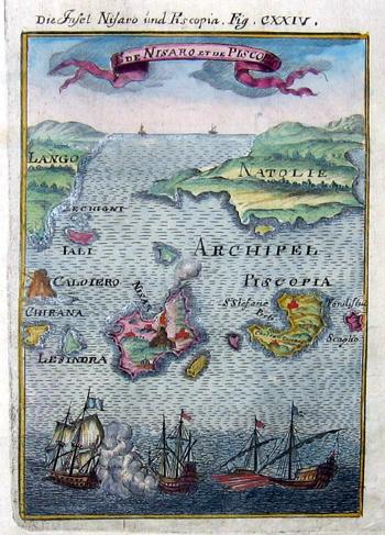 Mallet Alain Manesson Die Insel Nisaro und Piscopia/ El de Nisaro et de Piscopia