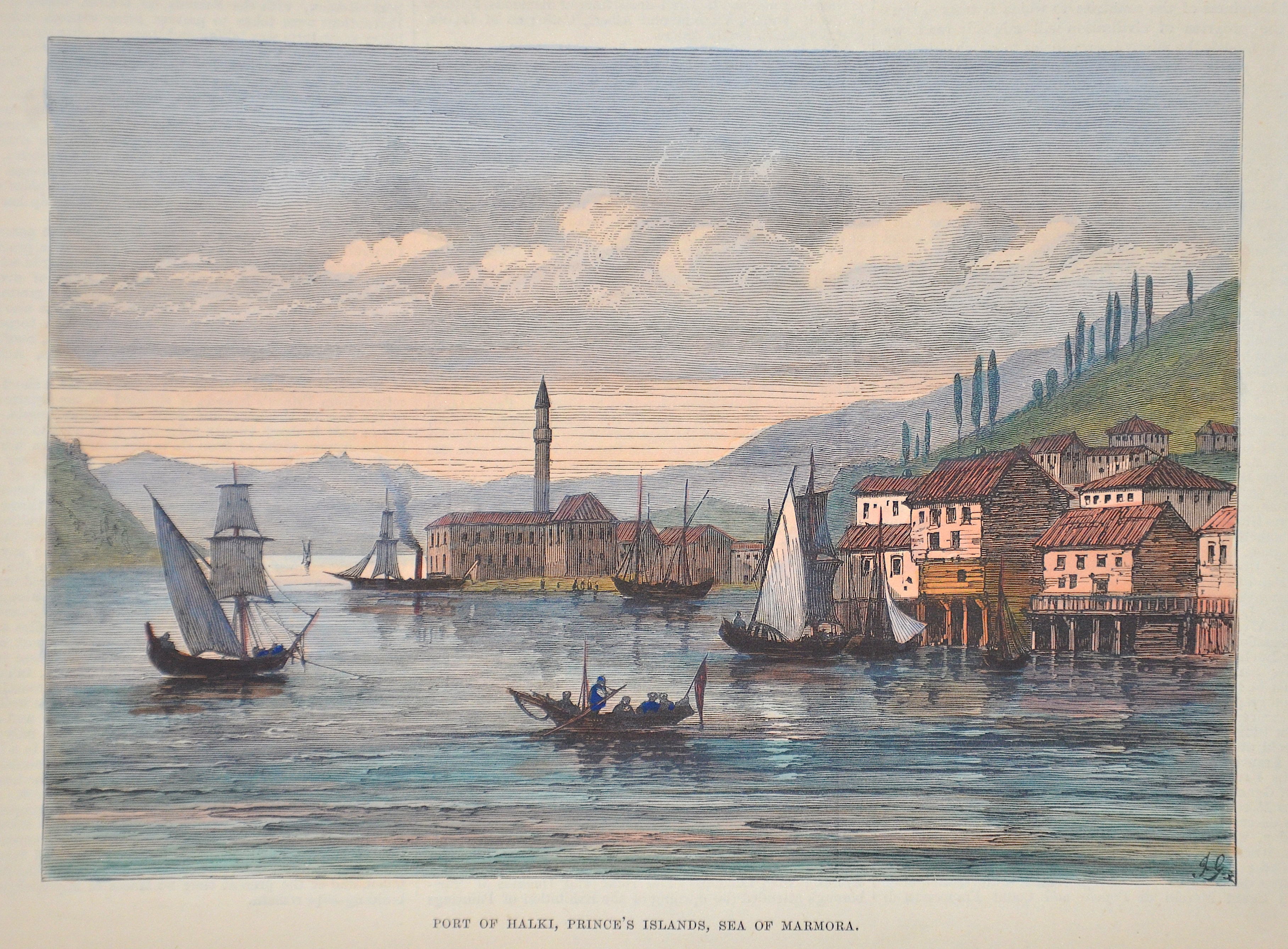 J.G.  Port of Halki, Princes islands, Sea of Marmora