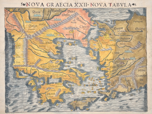Ptolemy/Münster Sebastian  Nova Graecia XXII – Nova Tabula