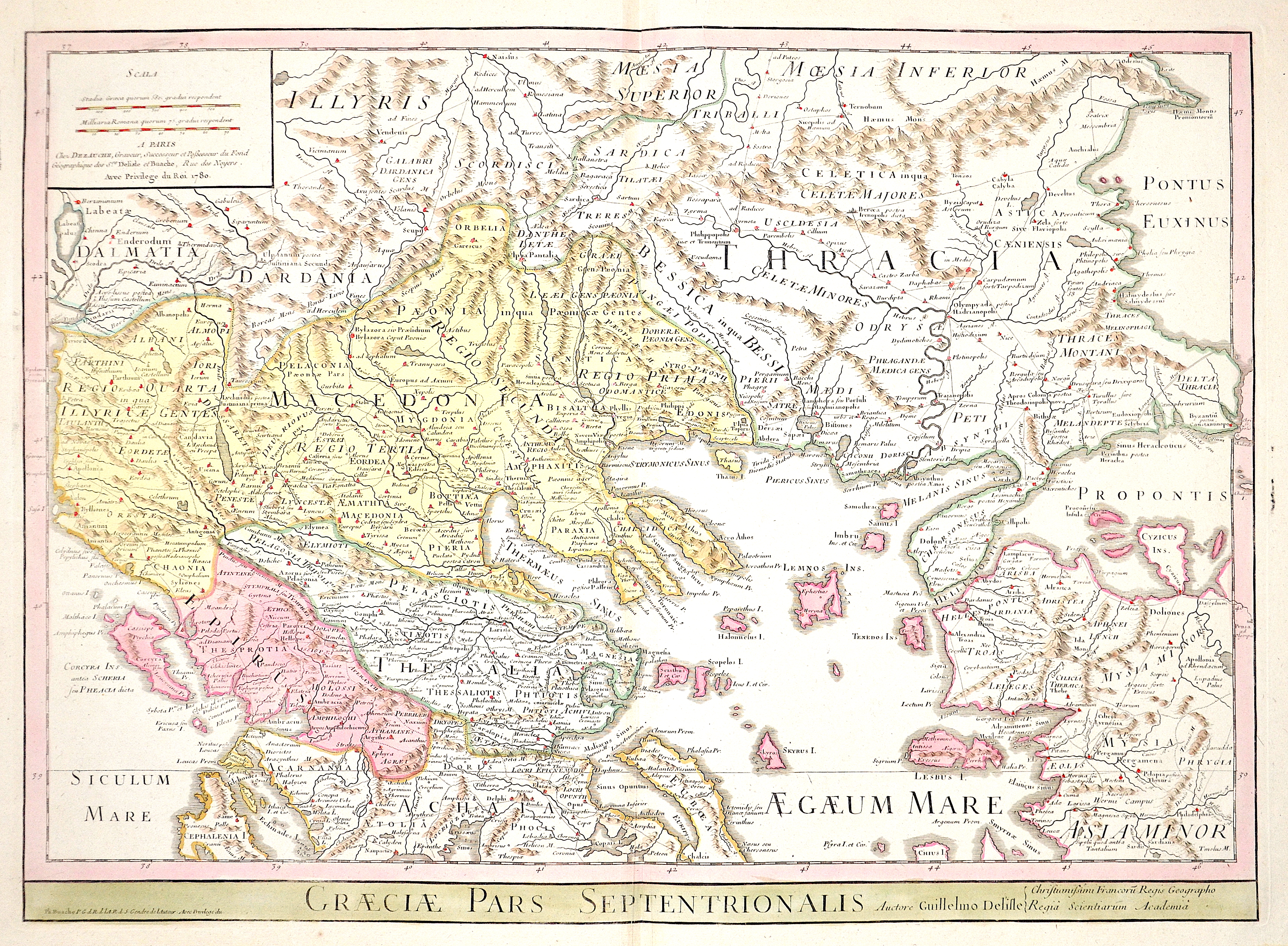 Dezauche/de l´Isle,  Greaciae pars Septentrionalis