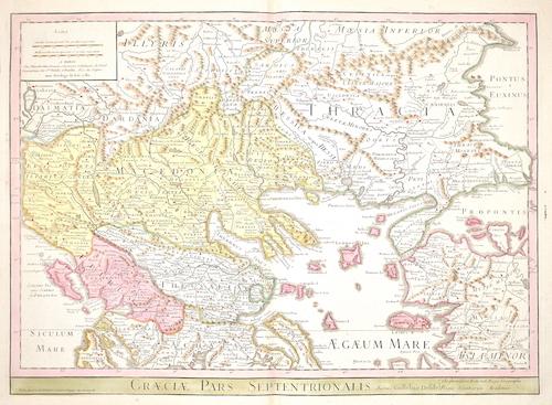 Dezauche/de l´Isle, J.A. / G. Greaciae pars Septentrionalis