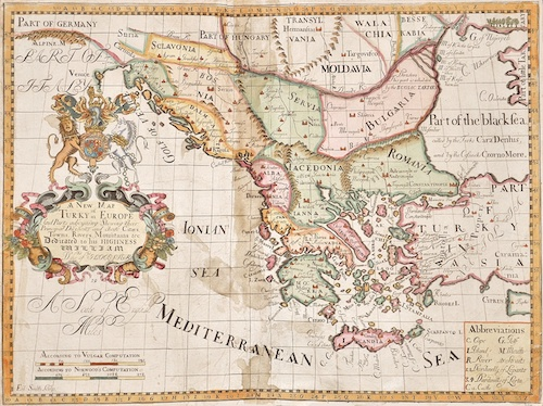 Wells Edward A New Map of Antient Greece, Thrace, Moesia, Illyricum, and the Isles adjoyning …