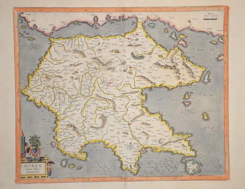 Mercator Gehard Morea olim Peloponnesus