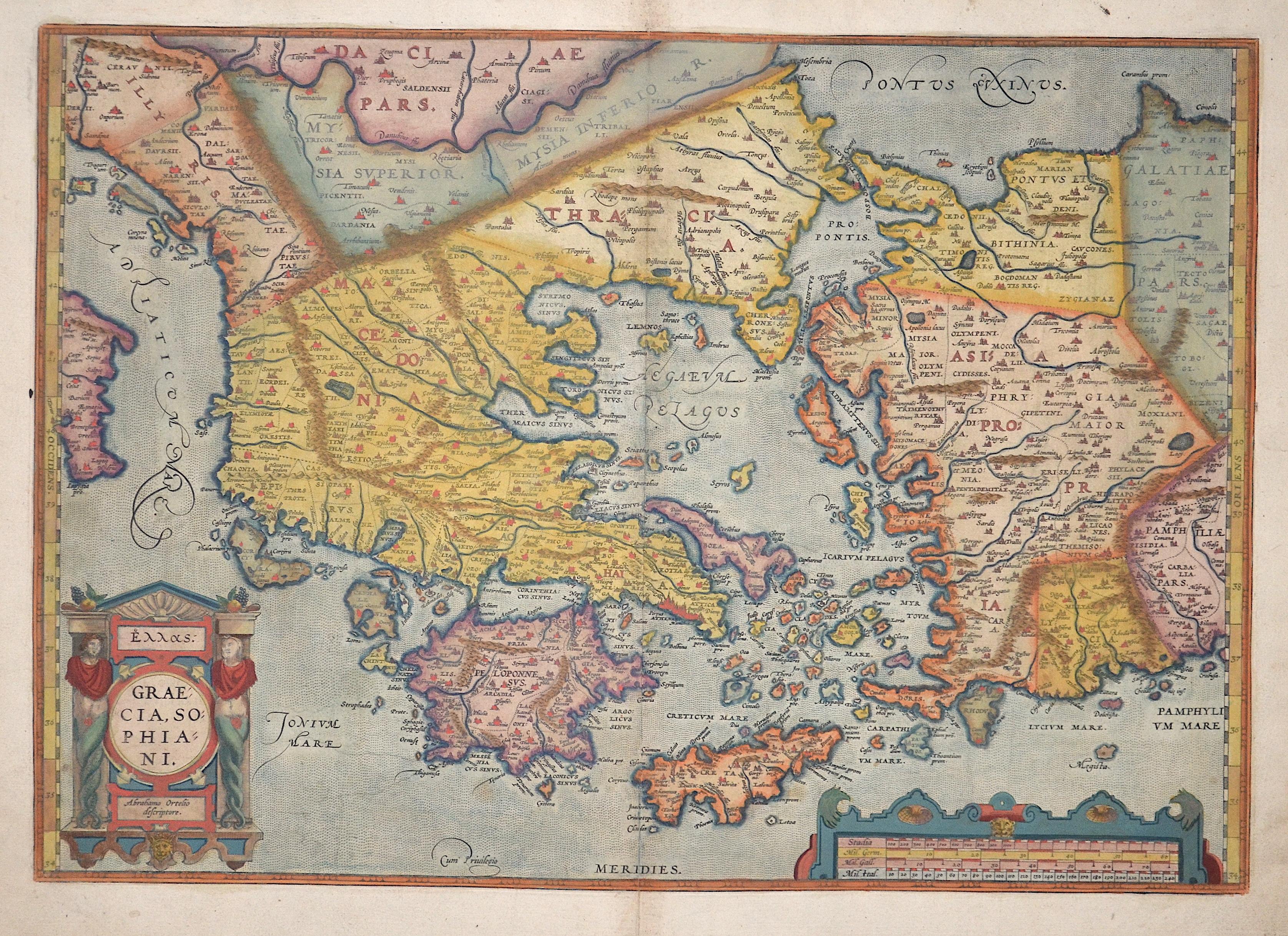 Ortelius  Graecia, Sophiani