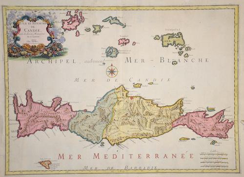 Sanson  Isle et Royaume de Candie.