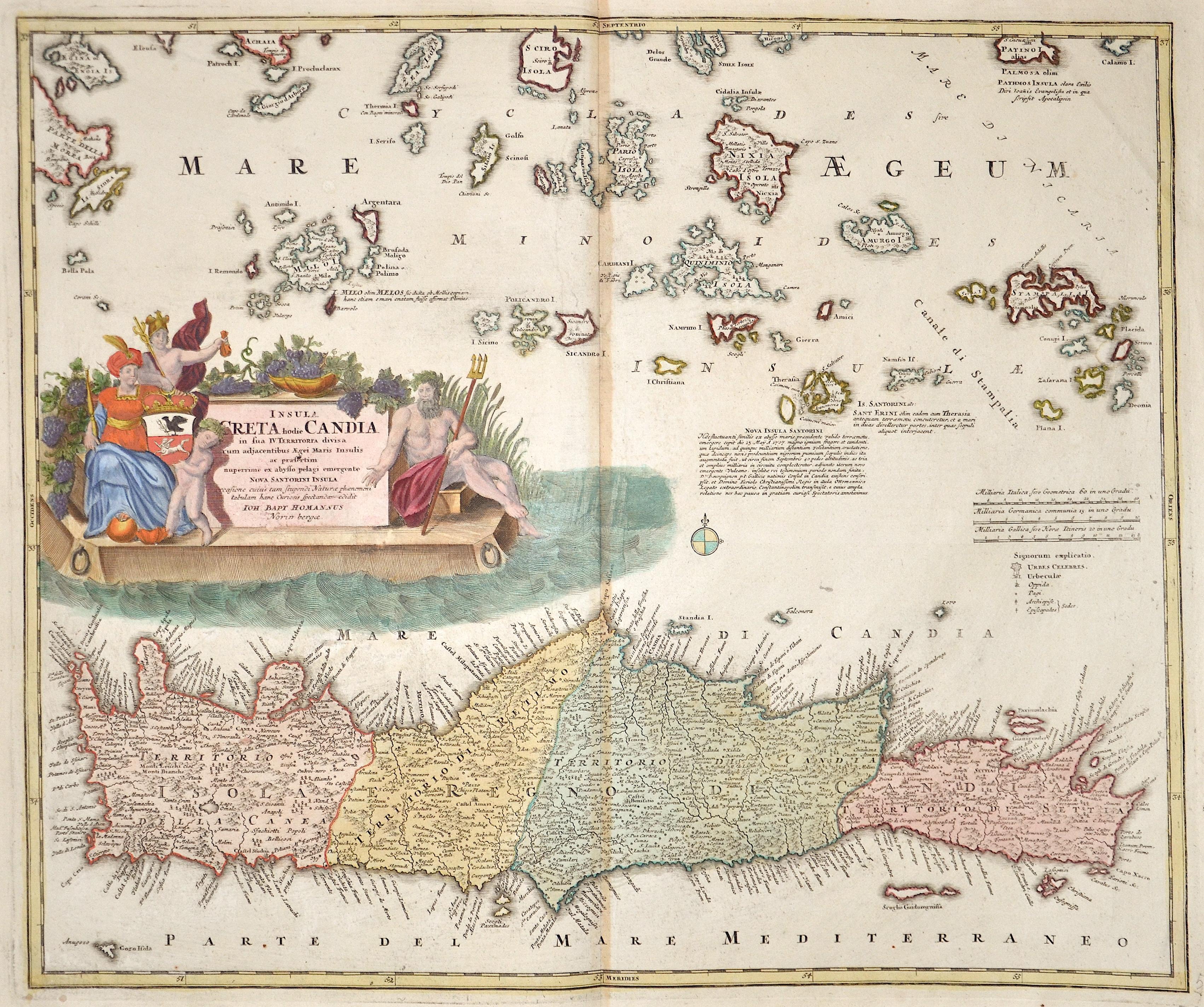 Homann  Insula Creta hodie Candia