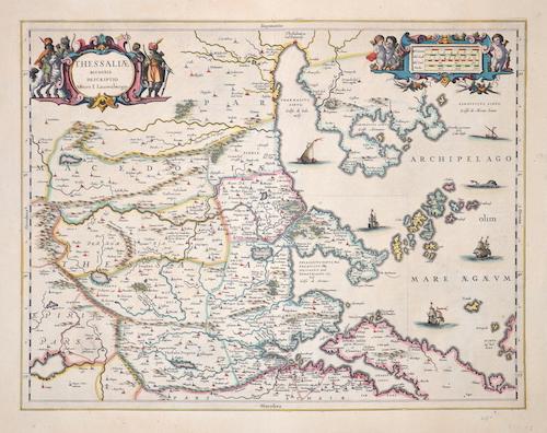 Janssonius Johann Thessaliae accurata descriptio
