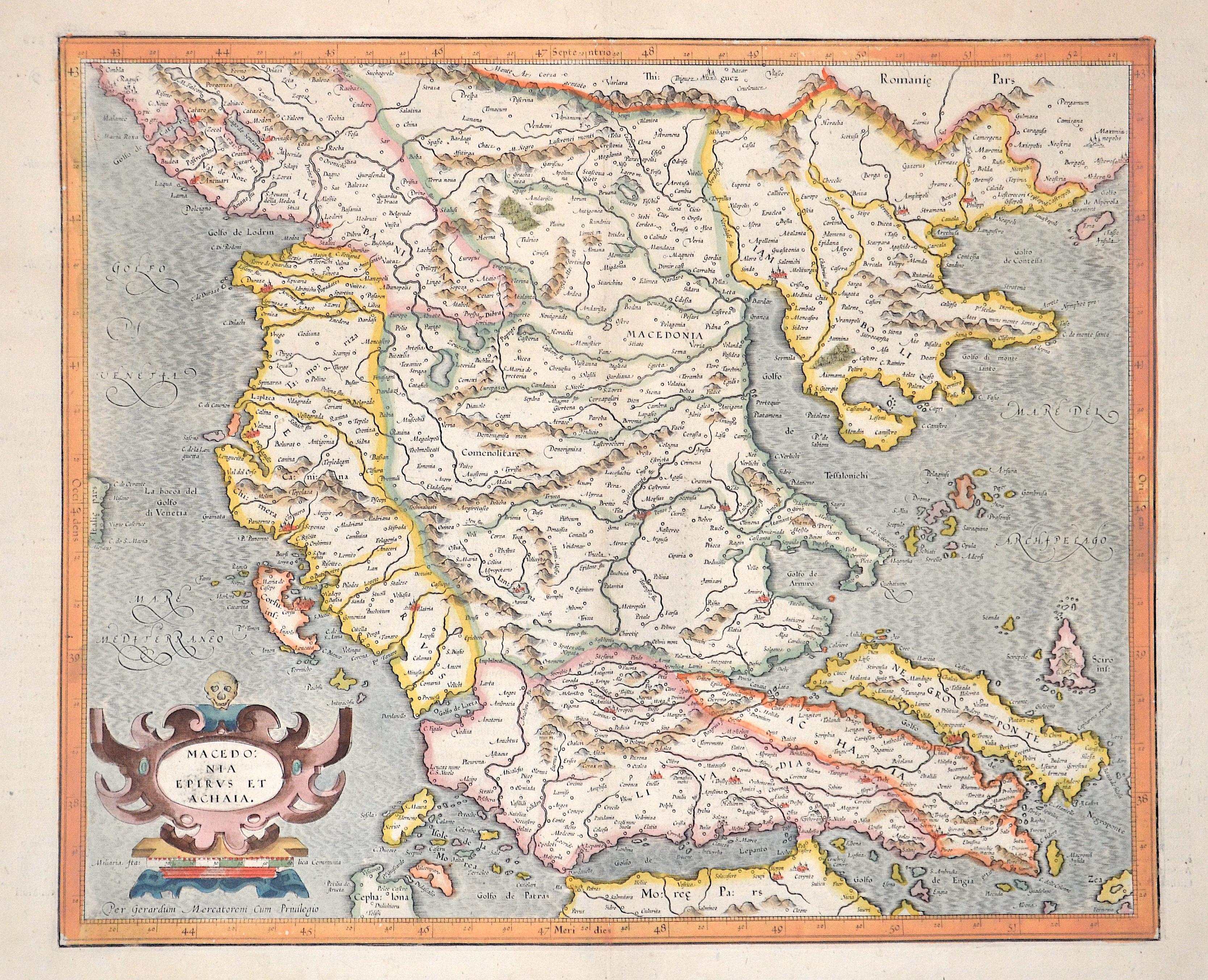 Mercator Gehard Macedonia, Epirus et Achaia