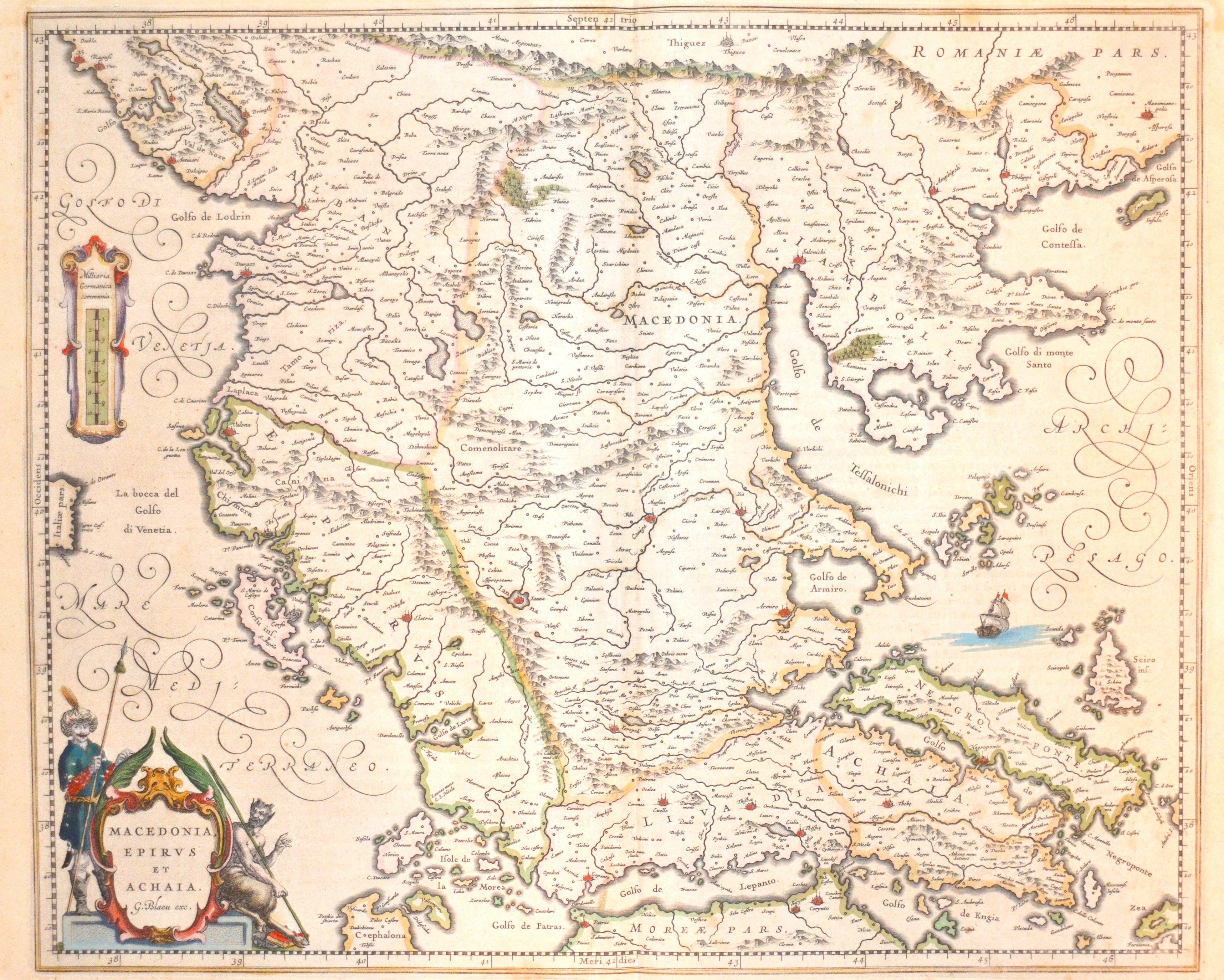 Blaeu  Macedonia, Epirus et Achaia.