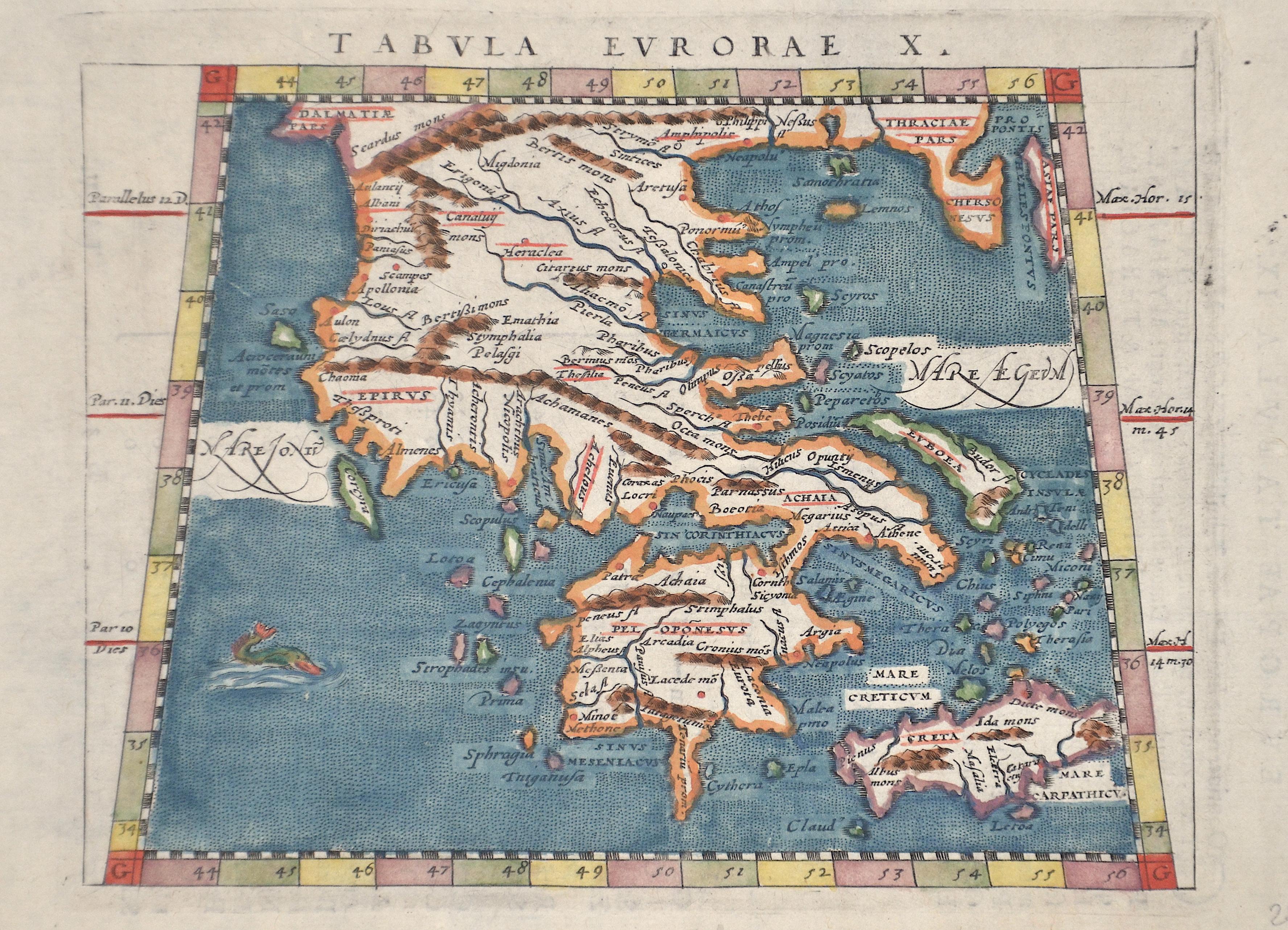 Ptolemy/Giovanni Magini Claudius Tabula Europae X.