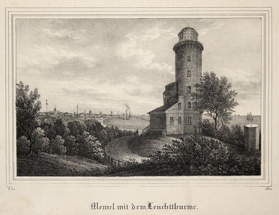Anonymus  Memel mit dem Leuchtthurme.