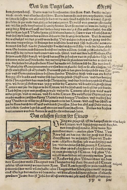 Münster Sebastian Von etlichen Stetten der Littaw