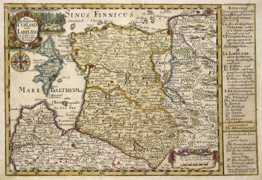 Schreiber Johann Georg Die Hertzogthümer Curland und Liefland