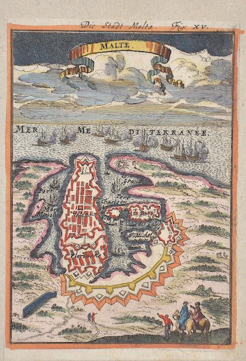 Mallet  Die Stadt Malta. Fig:XV / Malte.