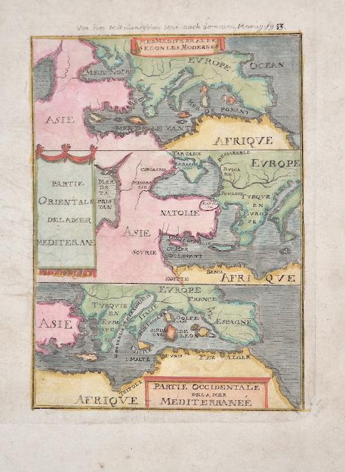 Mallet Alain Manesson Von dem Mittellandischen Meer nach der neuen Meurig Fig. 83