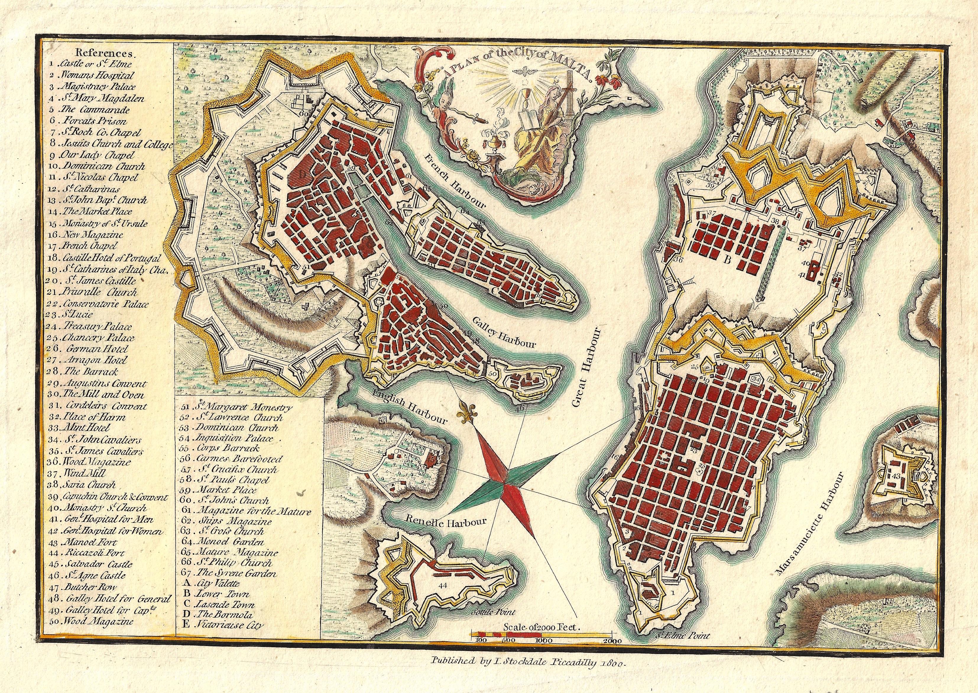 Stockdale John A Plan of the City of Malta.