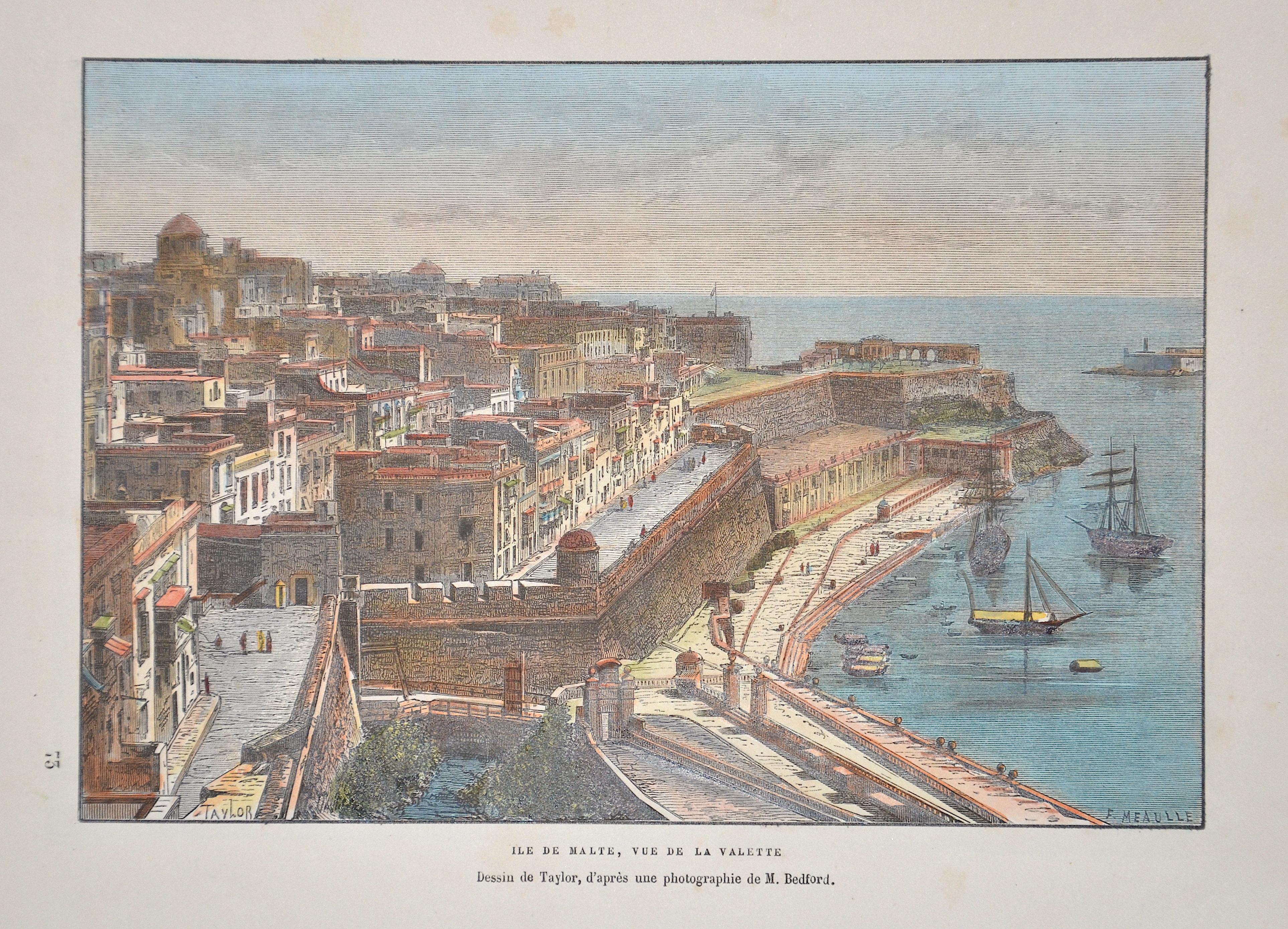 Meaulle F. Ile de Malte, Vue de la Valette
