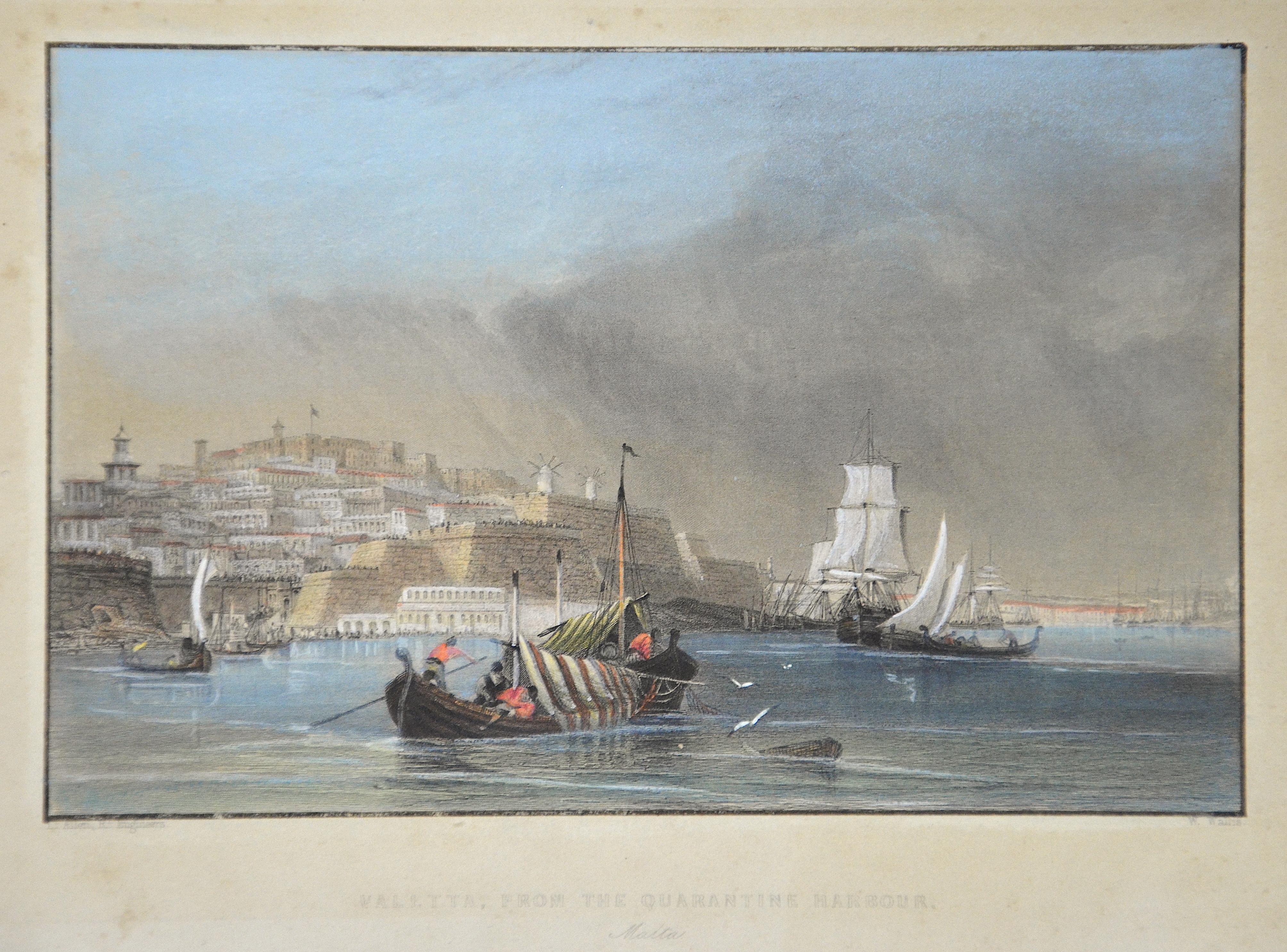 Fisher, Son  Valetta, from the Quarantine Harbour. Malta