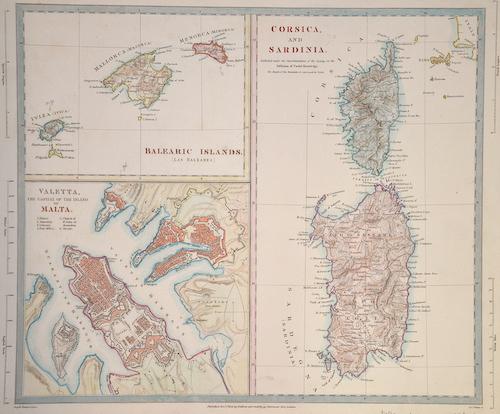 Walker  Corsica and Sardinia/ Valetta/ Malta Balearic Islands