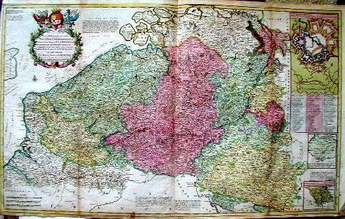 Moll Hermann Les Provinces des Pays-Bas Catholiques ou , a most exaxt map of Flanders…