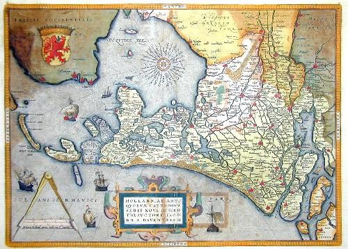 Ortelius  Hollandiae antiquorum cattorum sedis nova descriptio, auctore Jacobo A Daventria