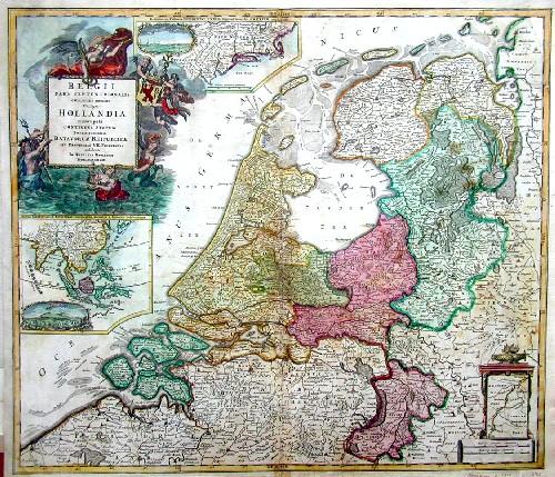 Homann Johann Babtiste Belgii pars septentrionalis communi nomine vulgo Hollandia