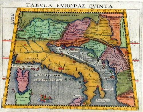 Ptolemy/Giovanni Magini  Tabula Europae quinta
