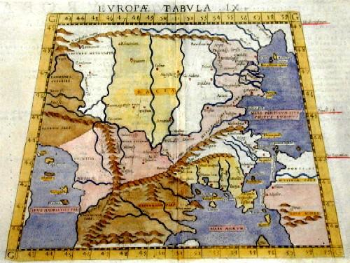 Gastaldi Giacomo Europae Tabula IX