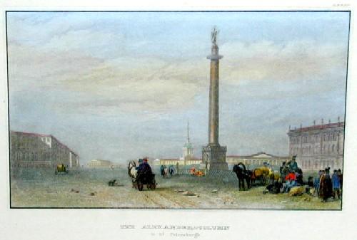 Bibliographisches Institut N.A. The Alexander – Column in St. Petersburgh