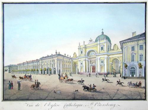 Anonymus  Vue de l´église Catholique, à St. Petersbourg