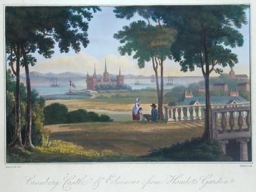 Medland T. Cronborg Caslte u. Elsineur from Hamlets Garden