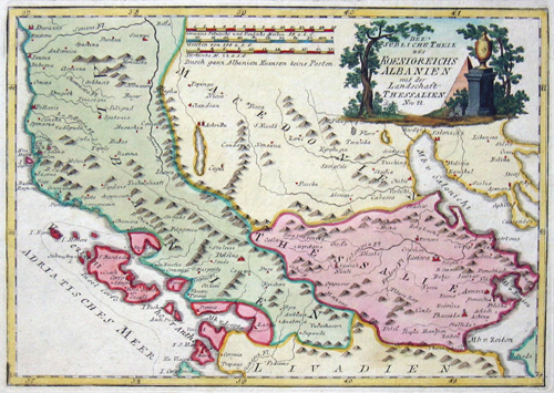 Schreiber  Der südliche Theil des Koenigreichs Albanien mit der Landschaft Thessalien
