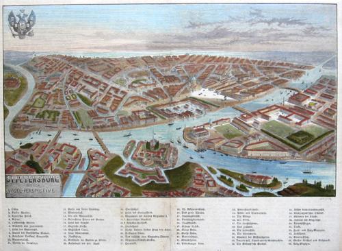 Gerlier  St. Petersburg aus der Vogel. Perspective