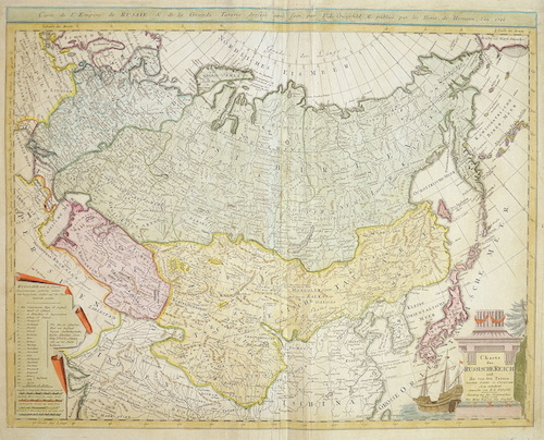 Homann / Güssefeld Erben Charte das Russische Reich und die von den Tartarn bewohnte Länder in Europa und Asia enthaltend entworfen von F.L. Güssefeld