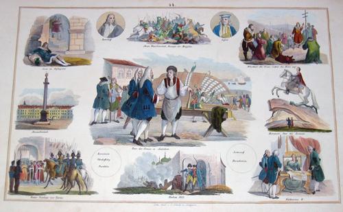 Schach Lithographische Anstalt C. Peter der Grosse in Saardam/Moskau 1812/ Alexander Säule/ Katharina II……