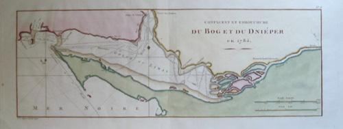 Dupuis  Confluent et embouchure du Bog et du Dnieper en 1785