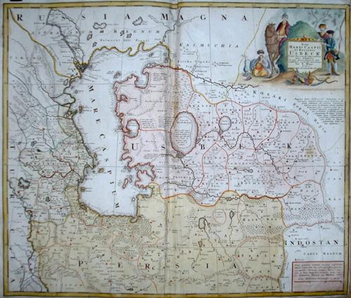 Homann Erben  Nova Maris Caspii et Regionis Usbeck…