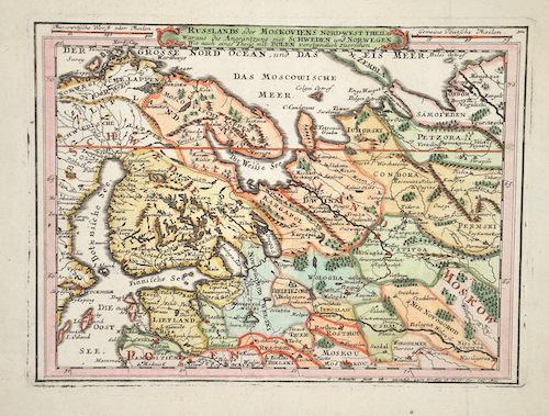 Bodenehr Johannes Georg Russlands oder Moskoviens nord- west Theil……
