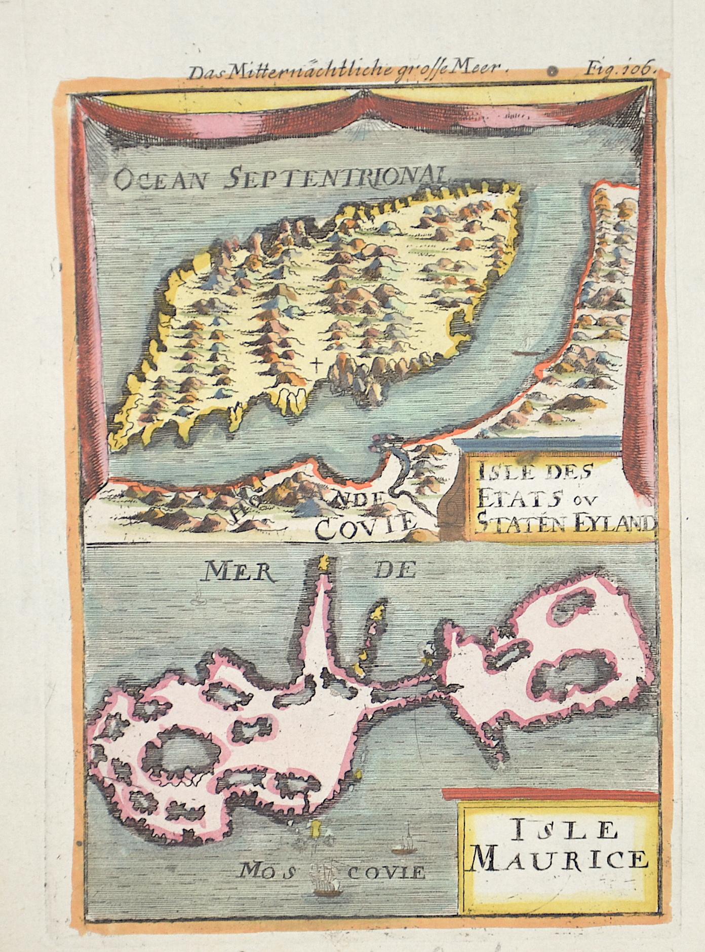 Mallet  Isle des etats ou Staten Eyland/Isle Maurice/ Das mitternäüchtliche große Meer