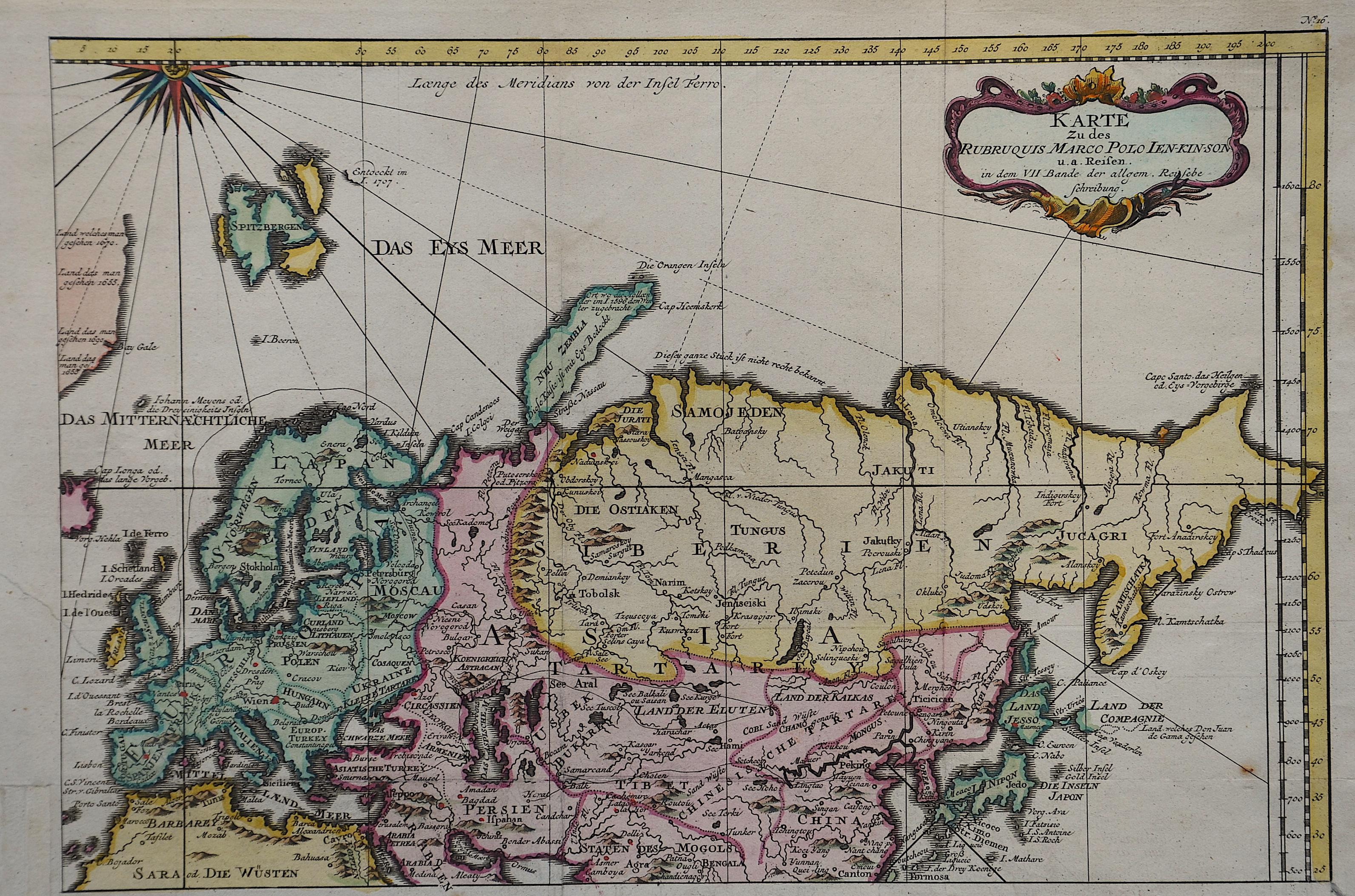 Bellin  Karte zu des Rubruquis Marco Polo Ien- Kin- Son u. a. Reisen