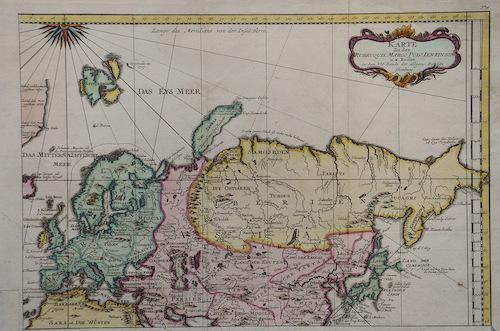 Bellin Jacques Nicolas Karte zu des Rubruquis Marco Polo Ien- Kin- Son u. a. Reisen