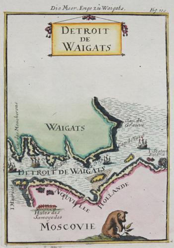 Mallet  Die Meerenge zu Waigats, Detroit de Waigats