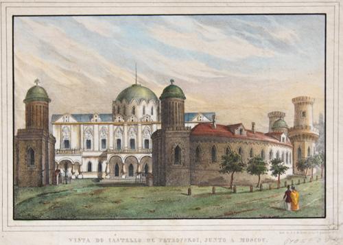Lemos  Vista do castello de Petrovskoi. junto a Moscou