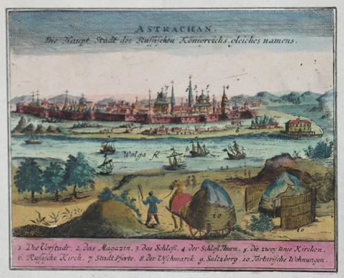 Aa, van der  Astrachan die Haupt Stadt des Russischen Königreichs gleiches namens