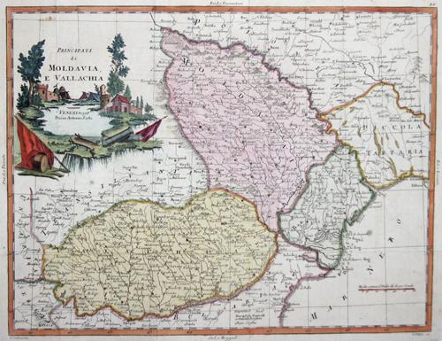 Zatta Antonio Principati di Moldavia, e Vallachia