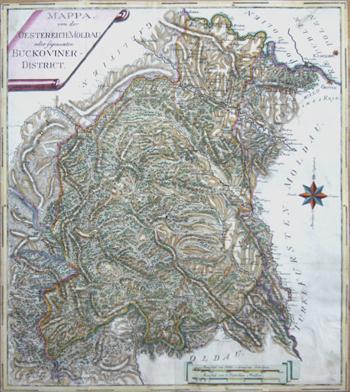 I.S.  Mappa von der Oesterrech: Moldau oder sogenanten Buckoviner District