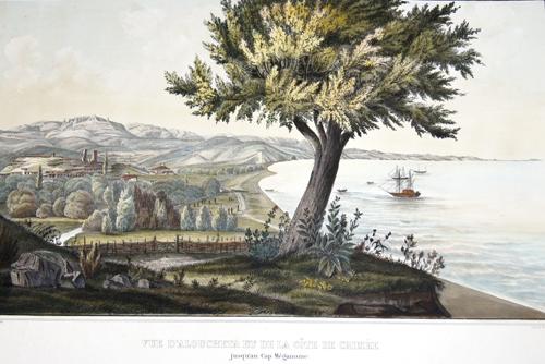 Nicolet,de  Vue d´Aloucheta et de la Côte de Crimée jusqu´au Cap Méganome