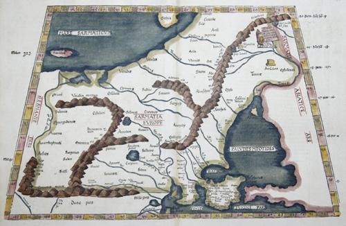Ptolemy/ Fries Claudius/ Laurent ( Lorenz) Tabula VIII Europae