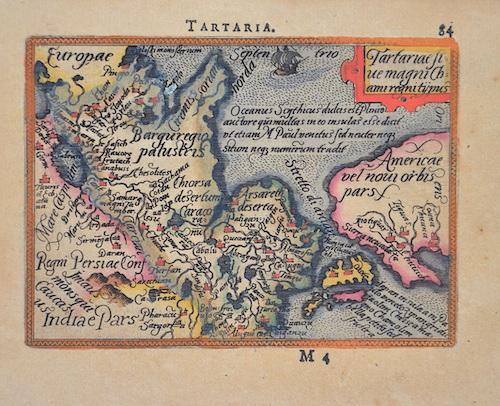 Ortelius Abraham Tartariae stue magni Chami regni typus